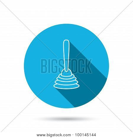 Plunger icon. Toilet cleaning tool sign.