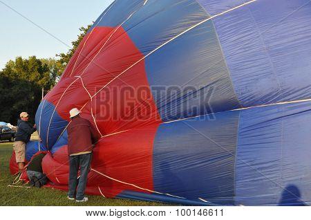 Balloon launch at dawn at the 2015 Plainville Fire Company Hot Air Balloon Festival