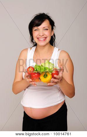 junge schwangere Frau
