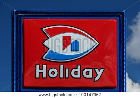 Holiday Station Store Sign And Logo