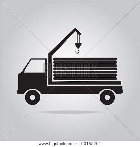Crane Truck Vector Illustration