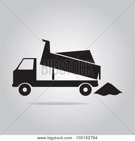 Dump Truck Symbol Illustration