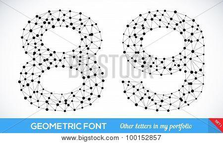 Geometric type font