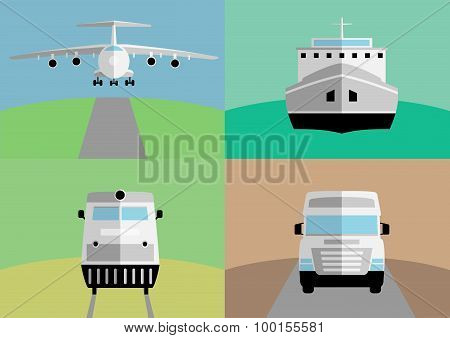 Background with freight transportation