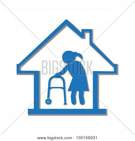 Nursing Home Symbol, Icon Illustration