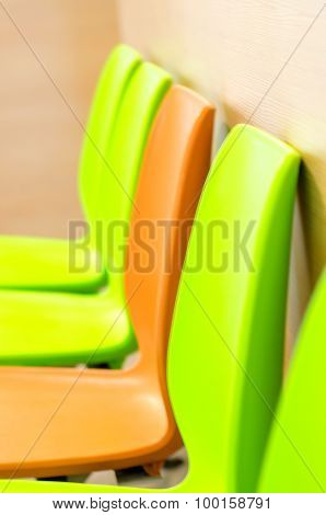 Close Up Coloful Waiting Chair