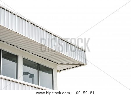 Factory roof isolated on white background for place your text