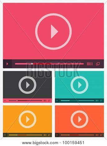 Modern flat video player interface.