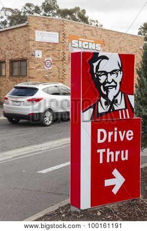KFC drive through sign
