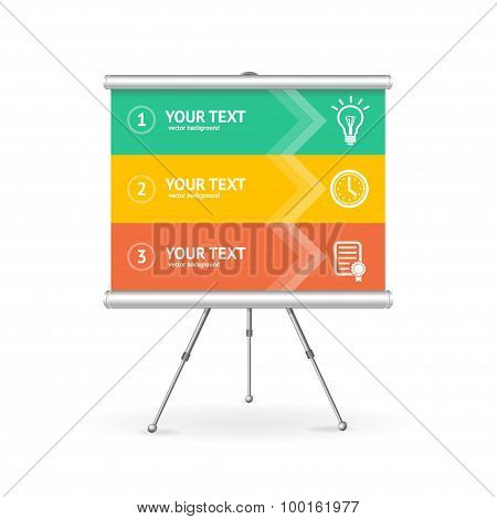 Business Option Banner. Vector