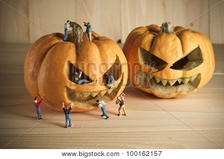 Doll And Pumpkin For Halloween