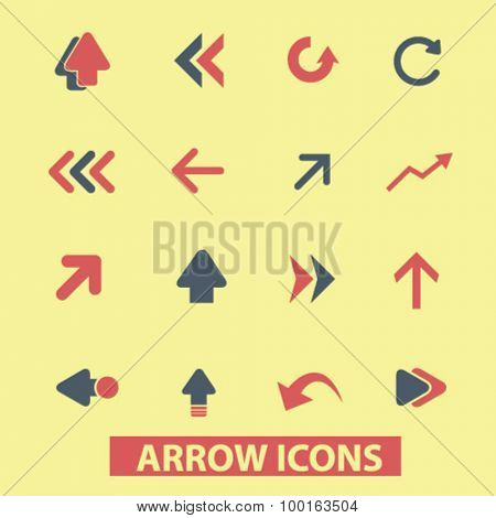 arrow, direction icons
