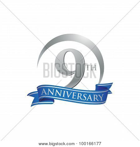 9th anniversary ring logo blue ribbon