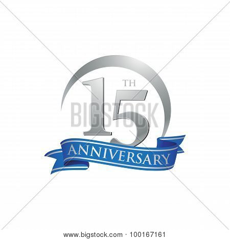 15th anniversary ring logo blue ribbon