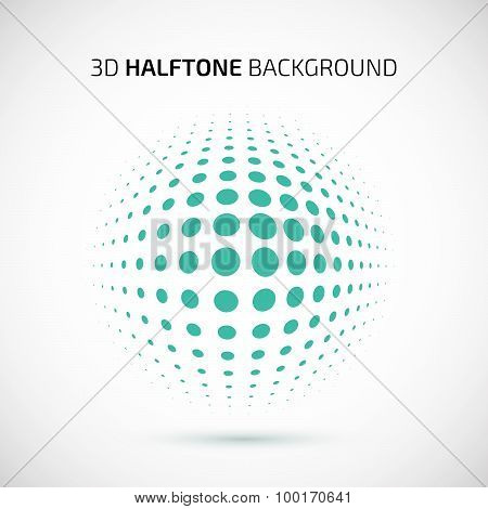 Abstract perspective background with halftone