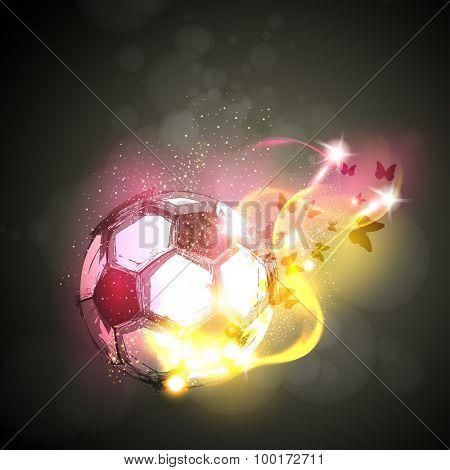 abstract soccer light poster easy editable