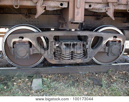 Detail Closeup Of A Railroad Coach
