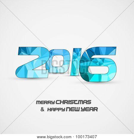 Happy new year card 2016 easy editable