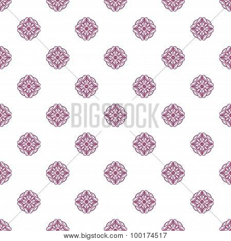 Colored Pattern With Decorative Symmetric Ornaments