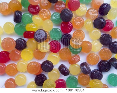 Celebratory Children's Backgrounds With Colorful Candies And Sweets