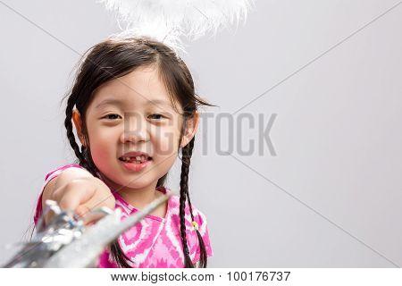Fairy Child Background / Fairy Child / Fairy Child On Isolated White Background