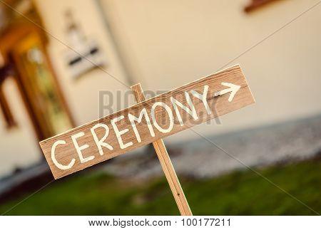 Ceremony- Wooden Arrow Board