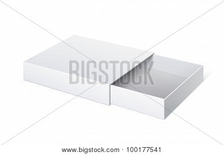 Package Cardboard Sliding Box Opened.