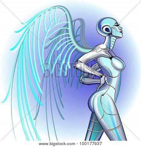 Sexy girl robot