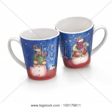 Two funny Christmas Cups
