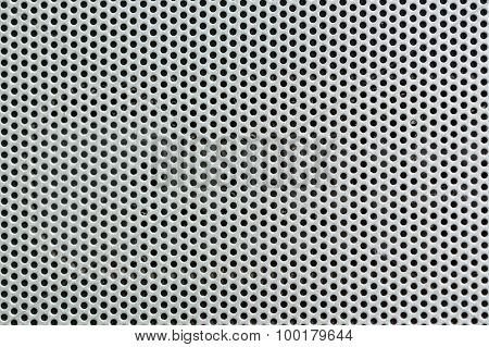 Metal Silver Background With Holes. Metal Grid.