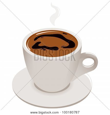 Cup of Greek or Turkish coffee