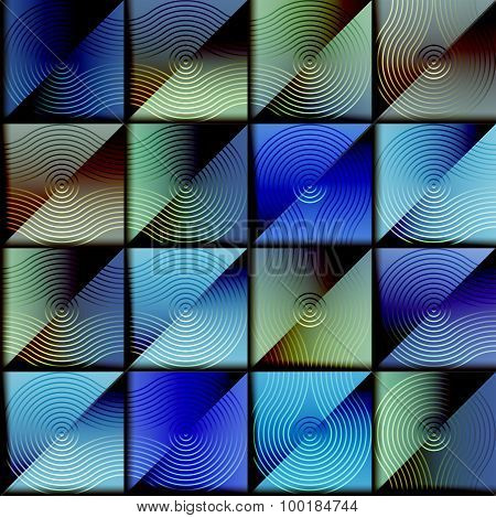 Abstract geometric blue background.