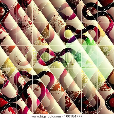 Abstract grunge geometric background.