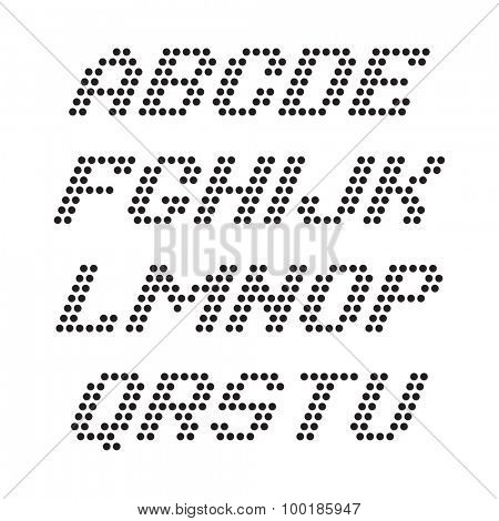 Alphabet font and numbers from dots