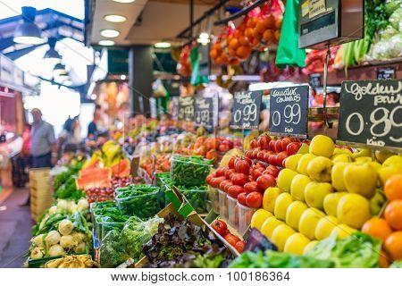Public Market La Boqueria Barcelona
