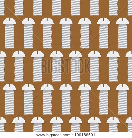 Bolts Seamless Pattern. Iron Fasteners Vector Background. Metal Bolt.