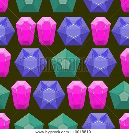 Precious Stones Texture. Rich Vector Background Of Jewels.