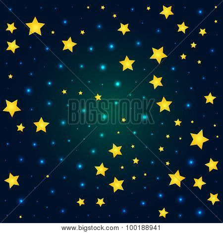 vector cartoon deep sky with sparkle and glow