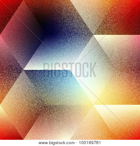 Abstract geometric cubes pattern on blurred background.