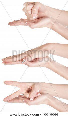 Hands Rock Paper Scissors