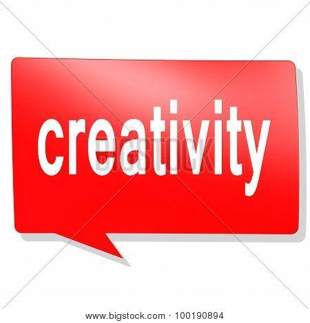 Creativity Word On Red Speech Bubble
