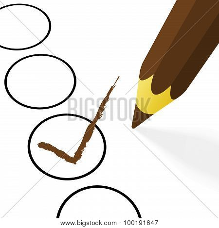 Brown Pencil With Hook