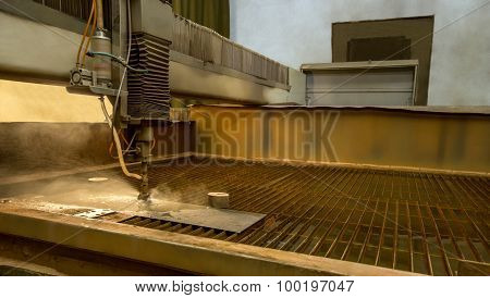 Metalworking. Machine for water jet cutting