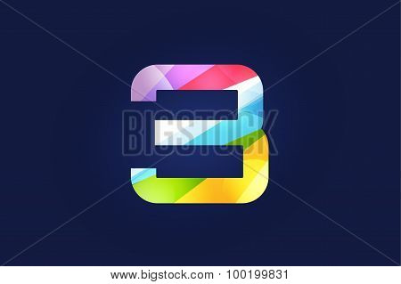Three 3 letter vector logo icon symbol