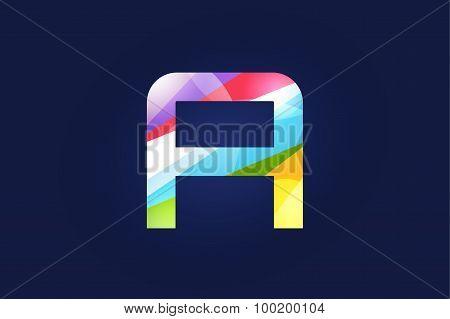 A letter vector logo icon symbol