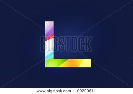 L letter vector logo icon symbol