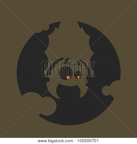 Vampire Dracula For Halloween. Vector Icon In Style Flat