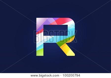 R letter vector logo icon symbol