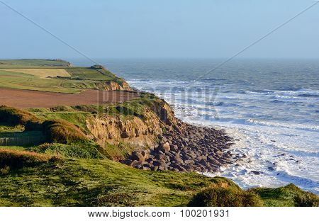 Cliff coast of the English Channel