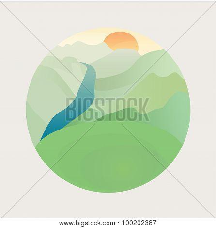 A beautiful vector landscape